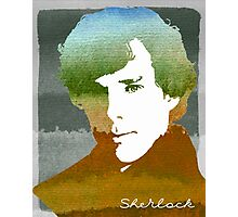 BBC Sherlock Holmes Watercolor Art Photographic Print