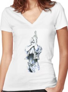 Parasite Eve Women's Fitted V-Neck T-Shirt