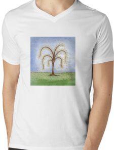 Whimsical Willow Tree Mens V-Neck T-Shirt