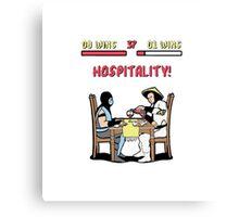 Mortal Hospitality Kombat Canvas Print