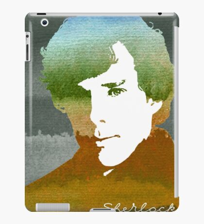BBC Sherlock Holmes Watercolor Art iPad Case/Skin