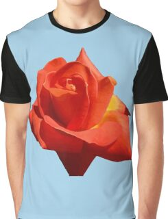 Beautiful Red Rose Photograph Vector Graphic T-Shirt