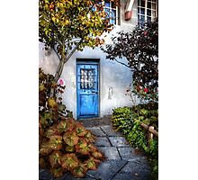 What's Behind The Blue Door? Photographic Print