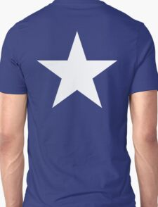 WHITE STAR, Bright Star, STELLAR, ACHIEVEMENT, cool, on Blue T-Shirt