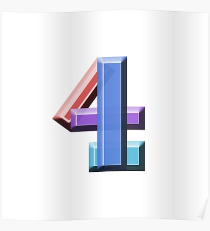 """""""4"""" typography Poster"""