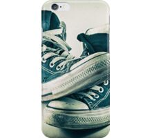 Worn sneakers iPhone Case/Skin