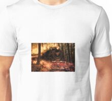 Locomotive on fire Unisex T-Shirt