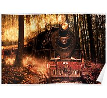 Locomotive on fire Poster
