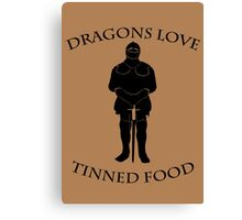 Tinned Dragon Food Canvas Print