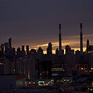 Manhattan from the Queens by Jean-Luc Rollier