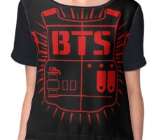 BTS (ARMY Red) Chiffon Top