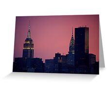 Empire State Building and Chrysler Building Greeting Card
