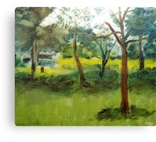 Trees in my garden, France Canvas Print