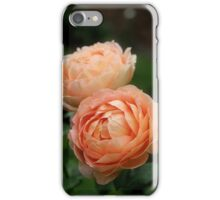 Lovely Peach Colored Roses iPhone Case/Skin