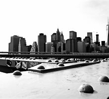 Manhattan from Brooklyn Bridge by Jean-Luc Rollier