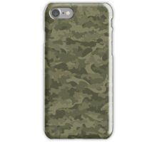Camouflage military cloth iPhone Case/Skin