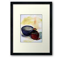 Still-life bowl and pot Framed Print