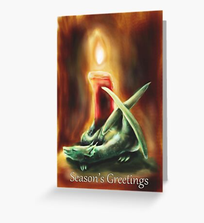 Candle Dragon - Season's Greeting  Greeting Card