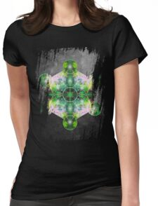Metatron's Cube green Womens Fitted T-Shirt