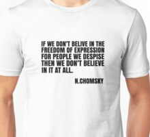 Noam Chomsky Quote Free Speech Liberty Freedom Political Unisex T-Shirt