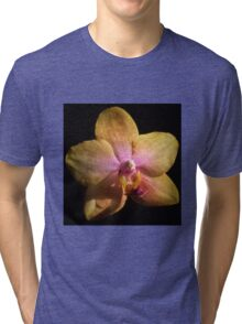 A single orchid flower Tri-blend T-Shirt
