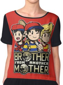 Another MOTHER Trio -alt- (Ness, Ninten & Lucas) Chiffon Top