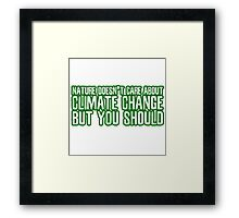 Climate Change Global Warming Nature Ecological Activism Political Framed Print