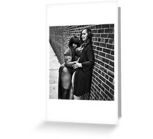 Thick black love Greeting Card