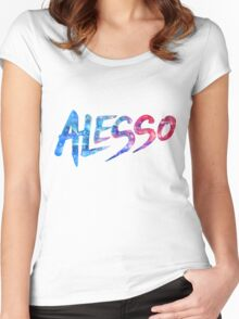 ALESSO LOGO Women's Fitted Scoop T-Shirt