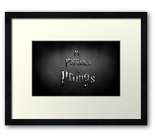My Patronus is Prongs Framed Print