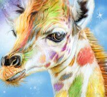 Rainbow Giraffe Sticker