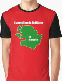 EVERYTHING IS BRILLIANT IN MAYO - GREEN ON RED Graphic T-Shirt
