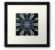 Jelly Fish Design Framed Print