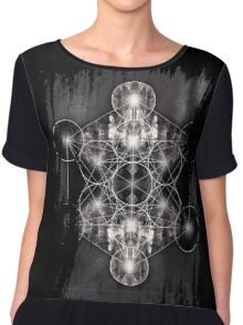 Metatron's Cube grey Chiffon Top