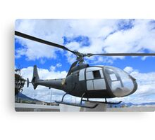 Helicopter on Display Metal Print