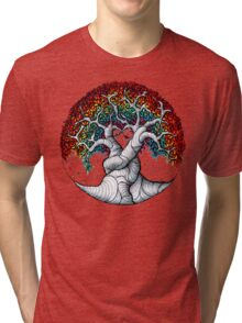 Growing rainbow zendoodle Tri-blend T-Shirt