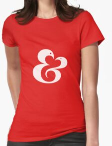 Ampersand (01 - White on Red) Womens Fitted T-Shirt