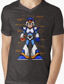 Rock Man X Mens V-Neck T-Shirt