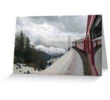 The Bernina Train Greeting Card