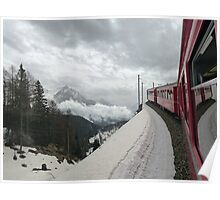 The Bernina Train Poster