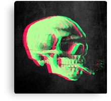 Van Gogh Skull with burning cigarette remixed Canvas Print