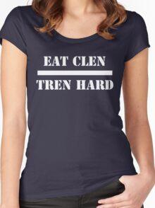 Eat Clen Tren Hard Women's Fitted Scoop T-Shirt