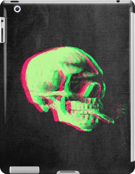 Van Gogh Skull with burning cigarette remixed by filippobassano