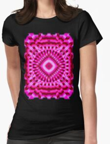 Mandala Hot Pink Hypnotic Womens Fitted T-Shirt