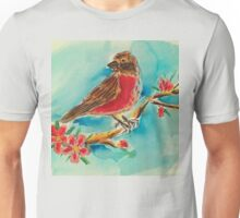 Cherry blossoms & finch Unisex T-Shirt