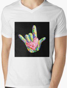 ASL - I HEART YOU! Mens V-Neck T-Shirt