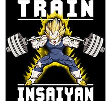 TRAIN INSAIYAN - Vegeta Squat Photographic Print