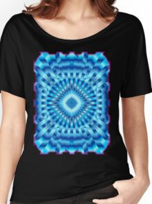 Mandala Blue Hypnotic   Women's Relaxed Fit T-Shirt