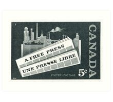 "1957 Canada ""A Free Press"" postage stamp Art Print"