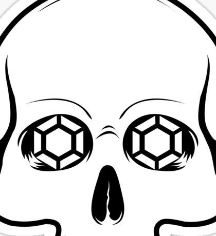 Defy Danger Skull Sticker Sticker